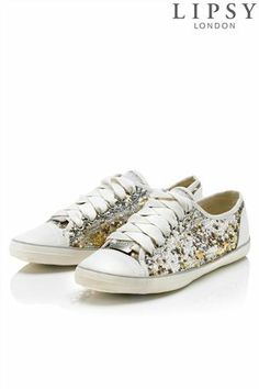 d9e6955afea Buy Lipsy Multi Sequin Flat Trainers from the Next UK online shop