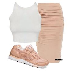 FashIonUnion crop (sold out, @missguided has similar), Bardot skirt ($40, on sale), and Reebok sneakers ($220) xx