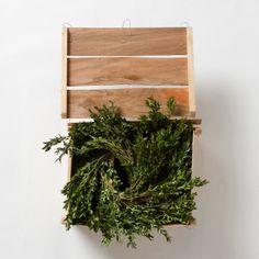 fresh boxwood garland + box