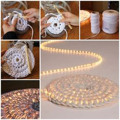 DIY Crochet Night String Light Carpet for Your Home