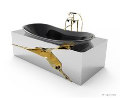 A look at the newest Luxury Bathtubs from Maison Valentina. Just unveiled at Maison et Objet Paris, five designs so ornate and overdone they border on ugly.