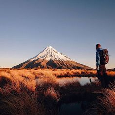 Sunset at Mt Taranaki, New Zealand By @daniel_ernst
