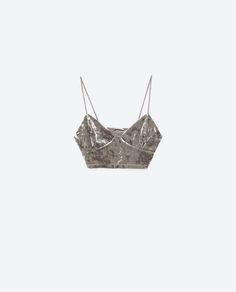 Image 8 of VELVET TOP from Zara