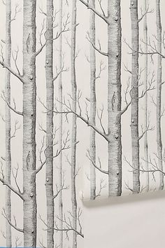 Woods Wallpaper #anthropologie