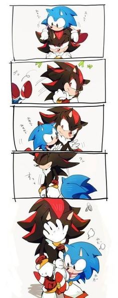 shadow: I AM DONE WITH YOU LEAVE ME ALONE FAKER. sonic: i has yer legs :3 <<<<< that is exactly what would be said lol