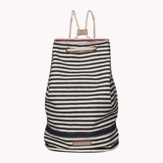 This drawstring beach bag with stripes is a guaranteed hit #TommyHilfiger #Spring16