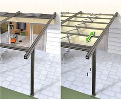 retractable pergola roof  ... see more ideas at pinner's pergola board http://www.pinterest.com/nydiateter/pergola/