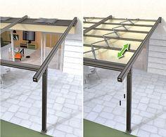 retractable pergola roof  ... see more ideas at pinner's pergola board http://www.pinterest.com/nydiateter/pergola/