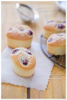 Raspberry-Coconut Friands | TeenieCakes.com @Cristina · Teenie Cakes