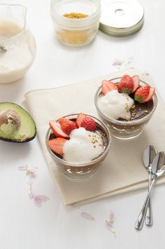アボカドチョコプリン #レシピ chocolate avocado pudding #recipe