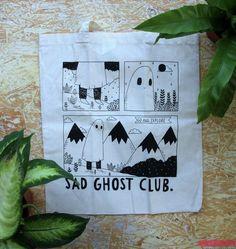 comic book tote / sad ghost club