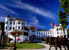 Mackinac Island, Michigan. Mackinac Island provides visitors with a truly unique experience by essentially transporting its inhabitants back in time. The island is care-free, which means island dwellers get around by either bicycles or horse-drawn carriages. The island also has small museums and idyllic state parks. All in all, amazing!