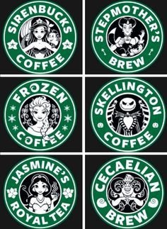 disney starbucks logo combination - Google Search
