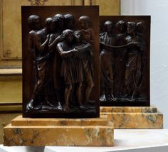 """""""cantoria"""" After Luca Della Robbia By Barbedienne. - bronze sculptures   3700eu"""