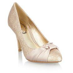 Light gold satin wedding shoes – Top wedding USA blog