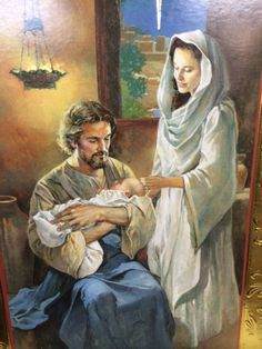 the holy family, Joseph holding Jesus Catholic Saints, Catholic Art, Religious Art, Religious Pictures, Jesus Pictures, Blessed Mother Mary, Blessed Virgin Mary, Christian Pictures, Jesus Christus