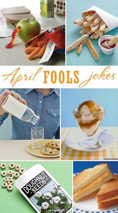 April Fools Fun ~ fun food ideas to trick your kiddos #aprilfools