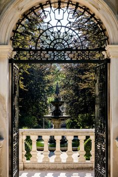 Window to the garden - Gardens nearby university of Coimbra. Portugal