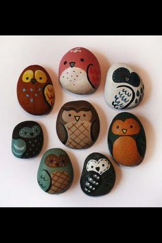 Cute hand painted river pebbles