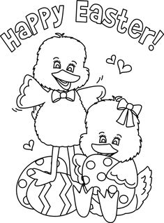 Happy Easter Coloring Pages | www.greatestcoloringbook.com