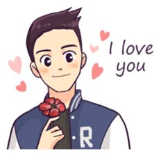 You & I : Daily Talk (Eng) sticker Cute Drawings Of Love, Cute Couple Drawings, Cute Love Couple, Cute Love Pictures, Cute Cartoon Pictures, Cute Love Gif, Love Cartoon Couple, Cute Love Cartoons, Cartoon Jokes