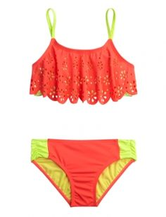 CUTOUT FLOUNCE BIKINI SWIMSUIT | GIRLS BIKINIS SWIMSUITS | SHOP JUSTICE