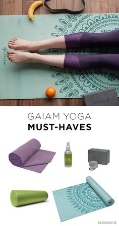 Make your own yoga studio at home so you never miss a workout. Featured product includes: Gaiam yoga mat, yoga block, small towel, yoga mat cleaning spray and foam roller. Get fit at Kohl's.