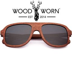 4575439989 Wood Worn Brand Wooden Aviator Sunglasses with Polarized Lenses