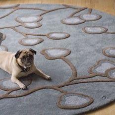 angela adams Nasturtium in Dusk rugs