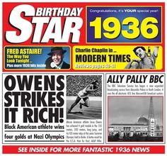 1936 81st Birthday Gifts Chart Hits CD and Retro Birthday Gift Greetings Card #BirthdayStarCDCards #BritpopDancePopDiscoEasyListening