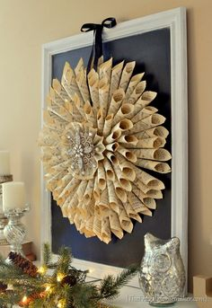 Looking for a interesting DIY project for your Office or maybe your Living Room?  Very unique look that isn't too overwhelming for any room.
