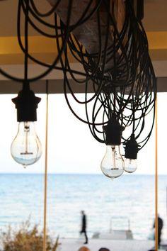 industrial plumen lamps - alea cafe lounge bar