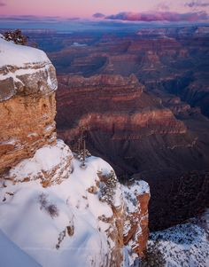 Snow at the Grand Canyon A very cold and snowy dawn at the Grand Canyon. This is from a February trip to the Canyon a few years ago. With overnight t... - Darren Huski - Google+