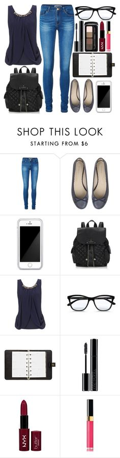 """Outfit For The First Day Of School"" by onedeetwins ❤ liked on Polyvore featuring Vero Moda, Squair, Lipsy, STELLA McCARTNEY, Mulberry and Giorgio Armani"
