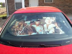 Star Wars Sun Shield. Warning: Should not be used while in hyper drive.. star wars, movies, Cars, Pop Culture, Celebrities