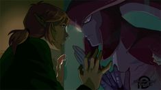 """""""it was mentioned by a friend that the shape of water would make a great AU for sidlink and i couldn't agree more ! so i took some screenshots of the trailer and redrew them with the same color palette but featuring link and sidon The Legend Of Zelda, Legend Of Zelda Memes, Legend Of Zelda Breath, Video Game Art, Video Games, Sidon Zelda, Assassin, Yuri, Prince Sidon"""