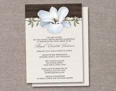 Rustic Magnolia Bridal Shower Invitations