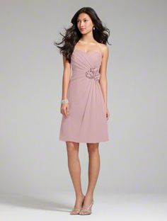 Alfred Angelo  Style 7180S New!        Chiffon      Optional Spaghetti Straps      Cocktail Length      Colors: 50 Dream in Color Shades