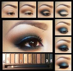 "Gorgeous ""night out"" eye look using the naked palette! Perfect for that smokey touch."