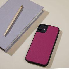 iPhone 11 Case | Full grain Petal Purple Birthday Email, Man Birthday, Painted Initials, Hand Painted, Iphone 11, Iphone Cases, Leather Phone Case, Paper Products, Monogram Letters