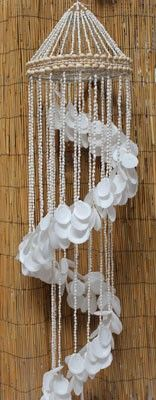 Sun Moon Seashells Stairway Chandelier Chime from California Seashell Company