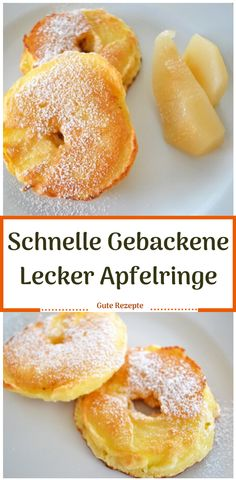 Schnelle Gebackene Lecker Apfelringe - Schnelle Gebackene Lecker Apfelringe Imágenes efectivas que le proporcionamos sobre healthy snacks - Healthy Snacks To Make, Healthy Desserts, Cake Recipes, Dessert Recipes, Apple Rings, Nutrition, Cannoli, Pampered Chef, Foodie Travel