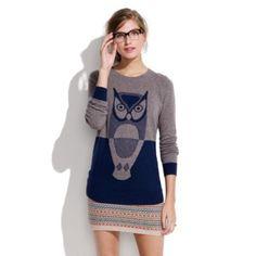 Madewell owl sweater