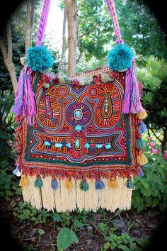 Bohemian Hippie Bag, Ethnic Tribal ,Boho Gypsy. Juju Gypsy Bag Medicine Woman Burning Man by IzzyRoo, $145.63