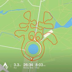 nice This runner is using Strava to create delightfully festive patterns