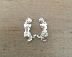 Hey, I found this really awesome Etsy listing at https://www.etsy.com/listing/273616114/mermaid-earrings-small-silver-studs