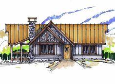 Chicken Little Front Elevation -- Natural Element Homes