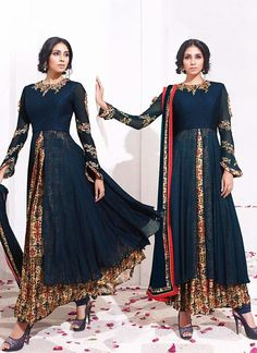 Blue Color with Embroidery Work Astounding Unstitched Salwar Kameez