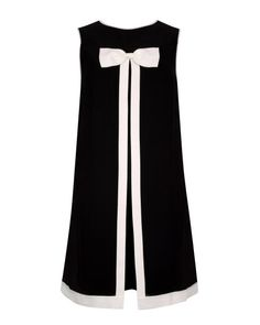 Bow detail dress - Black | Dresses | Ted Baker UK always gotta have a bit of monochrome in your wardrobe, moves away from the floaty dress but still feminine with the bow detail
