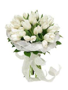 2800 химки Букет невесты из белых тюльпанов